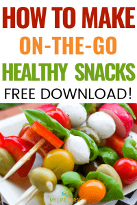 How to make on the go healthy snacks veggie on stick