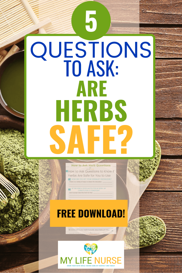 herbs on table - 5 Questions to ask: are herbs safe?