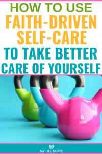 Dumbells Faith-driven self-care