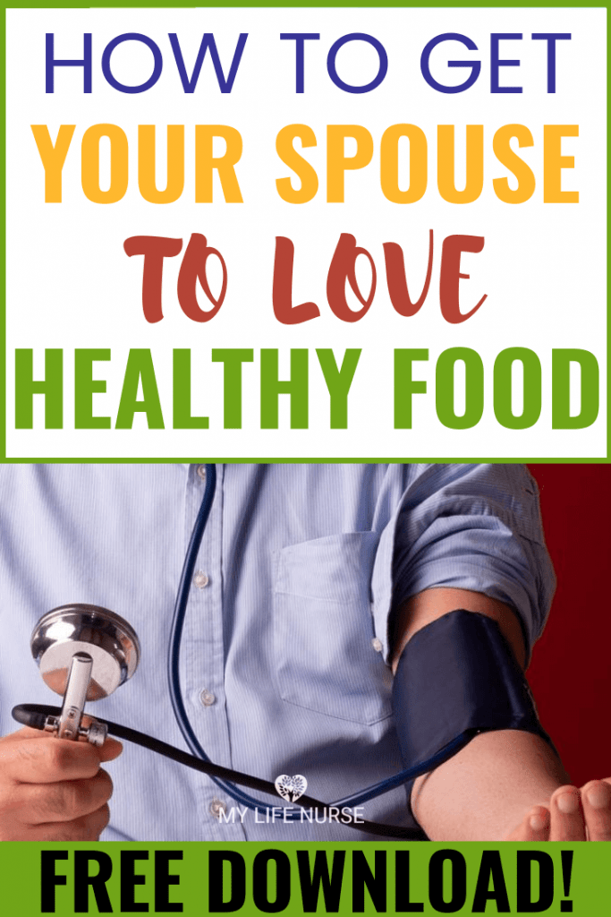 man taking blood pressure - spouse to love healthy food