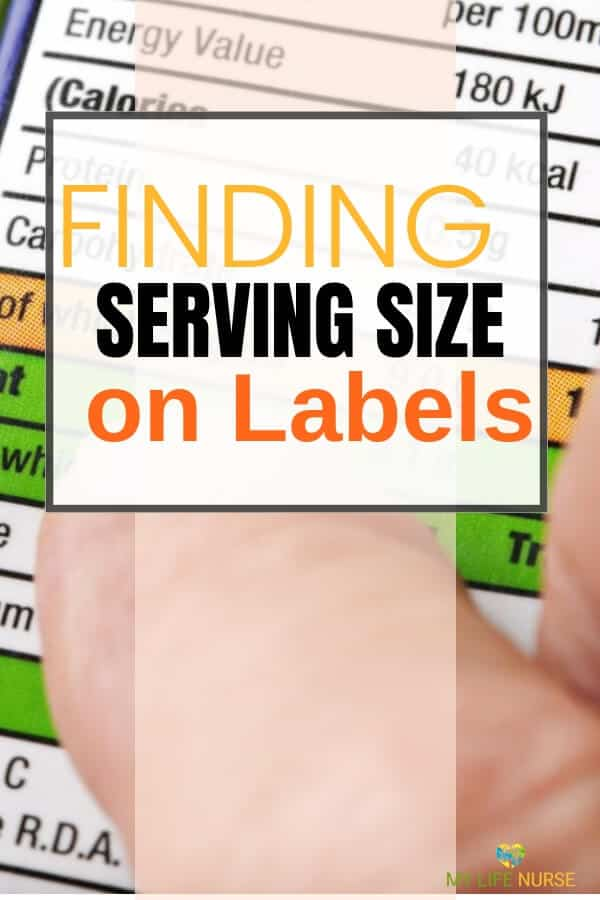 Find and Measure Serving Size