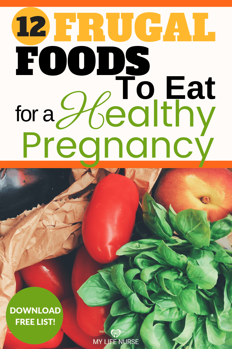 Produce in bag - Frugal foods to eat for a healthy pregnancy and baby