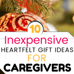 Gift ideas for caregivers - P gold decoration