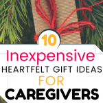Gift ideas for caregivers - P red yarn
