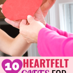 felt heart in hands - Heartfelt gifts for caregivers