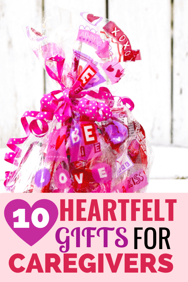 gift with pink wrap - 10 heartfelt gifts for caregivers