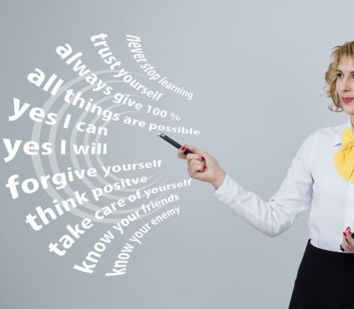 woman by words of negative phrases. 3 common thought barriers to maintaining self-care