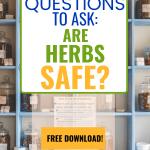 herbal medicine shelves - how to ask questions to know if herbs are safe for you