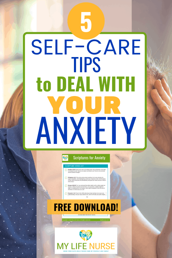 woman with anxiety 'self-care tips to deal with your anxiety'