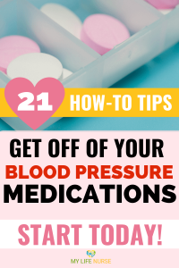 Get off of blood pressure medications