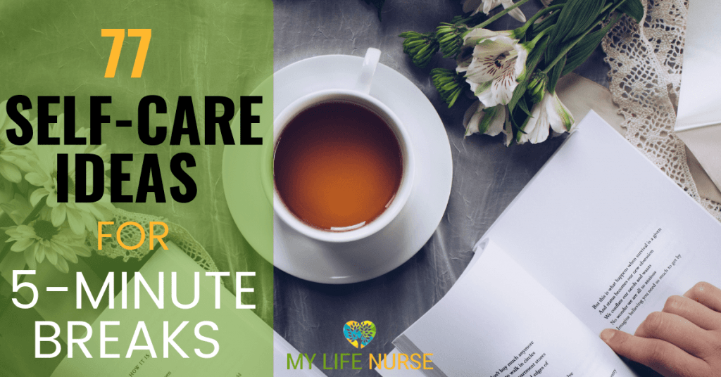 tea cup and book - 77 Self-care Ideas for 5- Minute Breaks