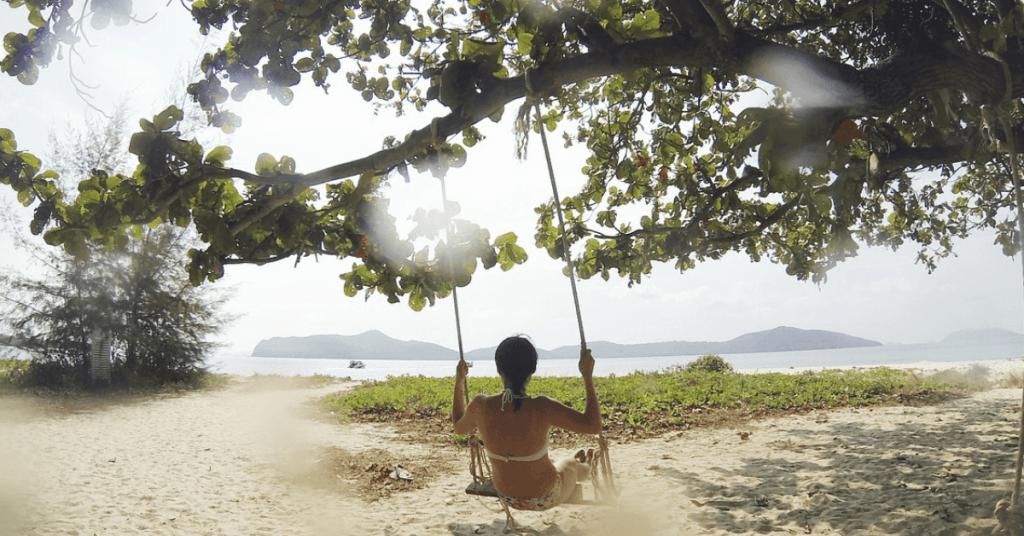 swing at beach - my infertility struggle saved me