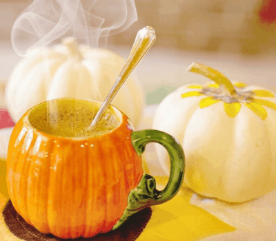 Pumpkin mug with hot cider - Get Back to Healthy Eating During the Holiday Season