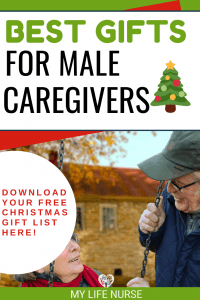 Best Gifts for Male Caregivers- older couple on swing