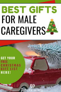 Best Gifts for Male Caregivers -red toy truck w Christmas tree p