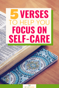 5 Verses to Help You Focus on Self-care - bible and notebook green