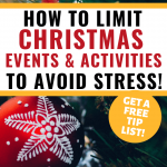 How to Choose Christmas events & activities to avoid stress! P - red decoration 'limit'