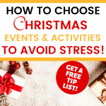 How to Choose Christmas events & activities to avoid stress! - cmas panel