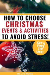 How to Choose Christmas events & activities to avoid stress! - red snowflake decoration P
