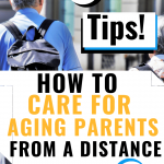 How to care for aging parents from a distance - elderly man blue