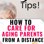 How to care for aging parents from a distance - elderly woman in pink