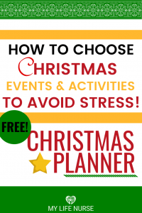 How to choose Christmas events and activities to avoid stress. P Planner png