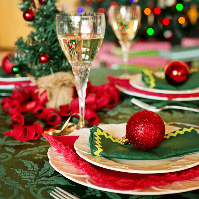 how to choose christmas events & activities to avoid stress table setting