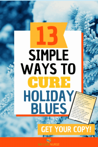 13 Simple Ways to Cure the Holiday Blues - blue spruce w snow