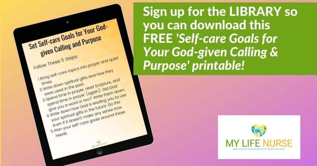 Set Self-care Goals for Your God-given Calling and Purpose Optin