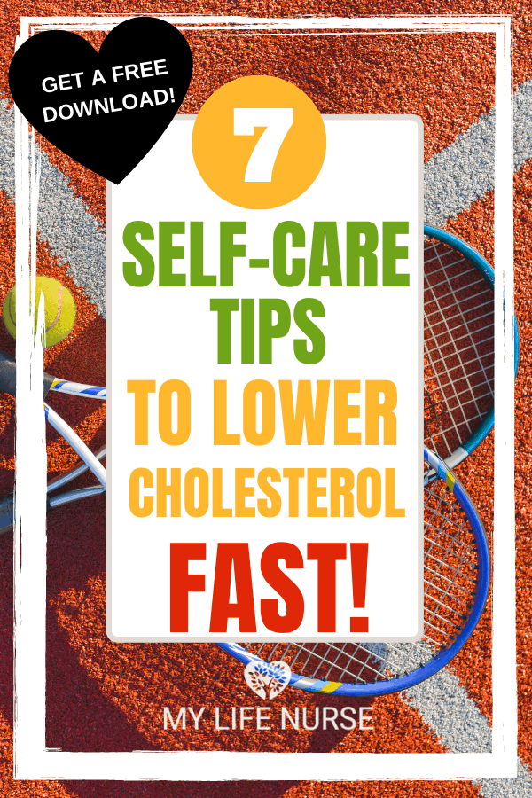 Tennis Rackets & ball - 7 Self-care Tips to Lower Cholesterol Fast