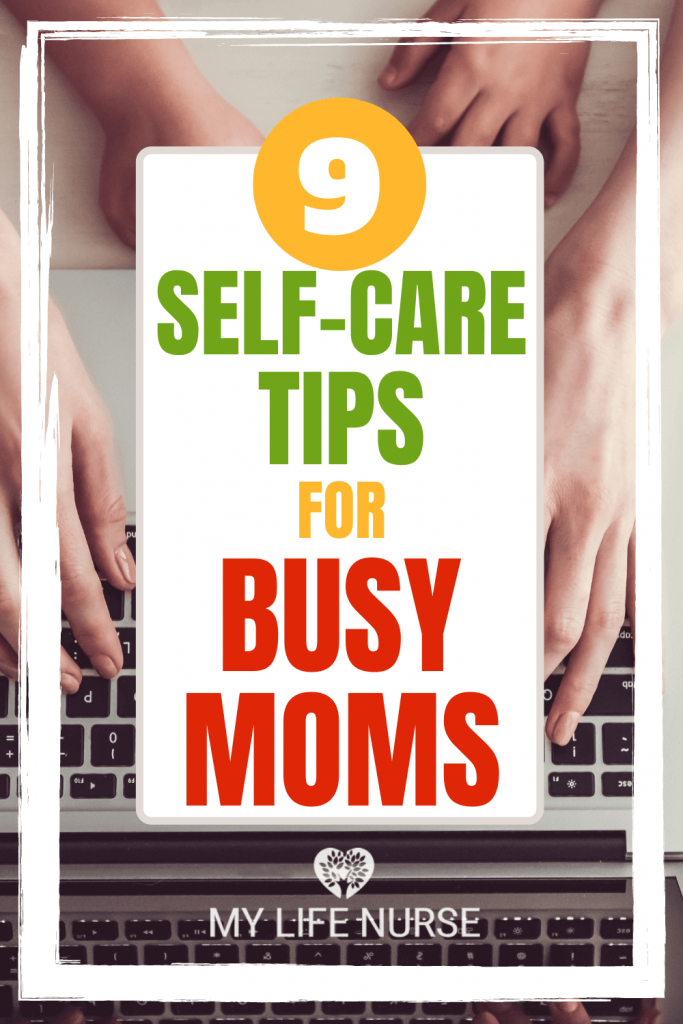 mom and child hands on keyboard - 9 self-care tips for busy moms