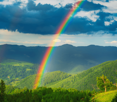 rainbow in sky w mountains How to Set Your Mind on Things Above