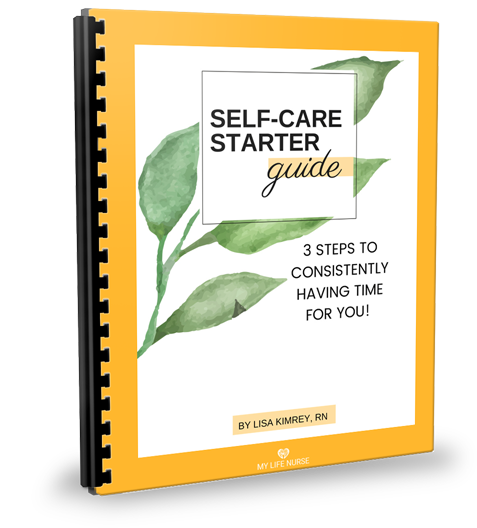 Cover of Self-care Starter Guide - Watercolor Green Leaves