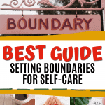 Pink Gate with Boundary on Sign - Setting Boundaries for Self-care